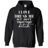 Black Pullover Hoodie - Love Drunk Me - Tattered Halo