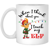 Touch My Elf Mug - White - Tattered Halo