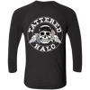 Tattered Halo Skull Logo Baseball Tee - Two Sided