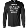 Love Drunk Me - Long Sleeve Tee - Black - Tattered Halo