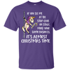 Workin It Christmas Unicorn Cotton Tee