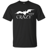 Bat Shit Crazy Tee - Classic Black T-shirt - Tattered Halo