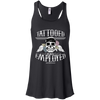 Tattooed and Employed Flowy Tank - Black - Tattered Halo
