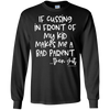If Cussing Bad Parent Black Long Sleeve Tee - Tattered Halo