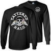 Tattered Halo Skull Long Sleeve Tee - Black