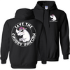 Save The Chubby Unicorn Pullover Hoodie - Black - Tattered Halo