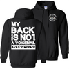 Back Not Voicemail Hoodie