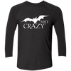 Bat Shit Crazy Black Raglan - Tattered Halo