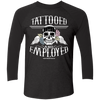 Tattooed and Employed Black Raglan - Tattered Halo