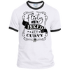 Flirty Dirty Inked Curvy Ringer White T-shirt - Tattered Halo