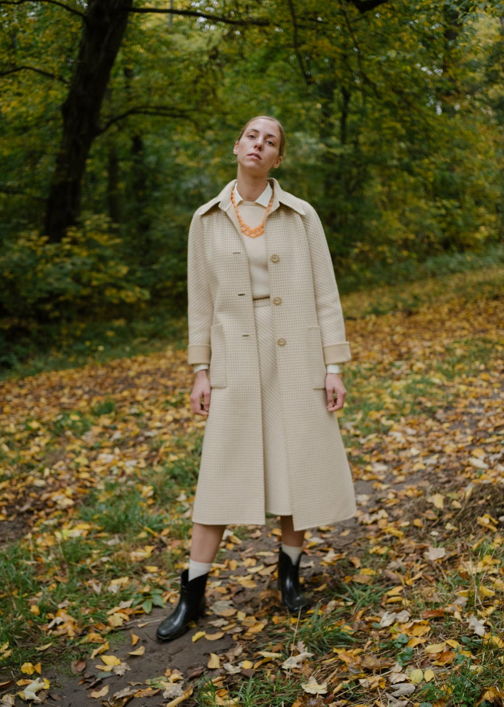 0018_VICHY VINTAGE BEIGE CREAM WOOL COAT