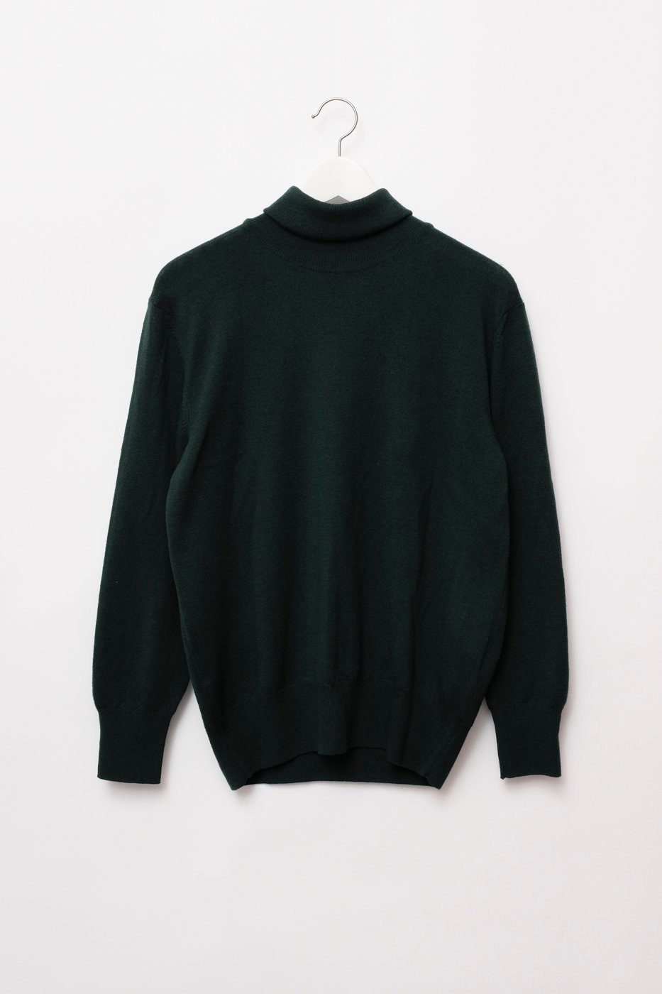 0285_PURE WOOL DARK GREEN TURTLE KNIT