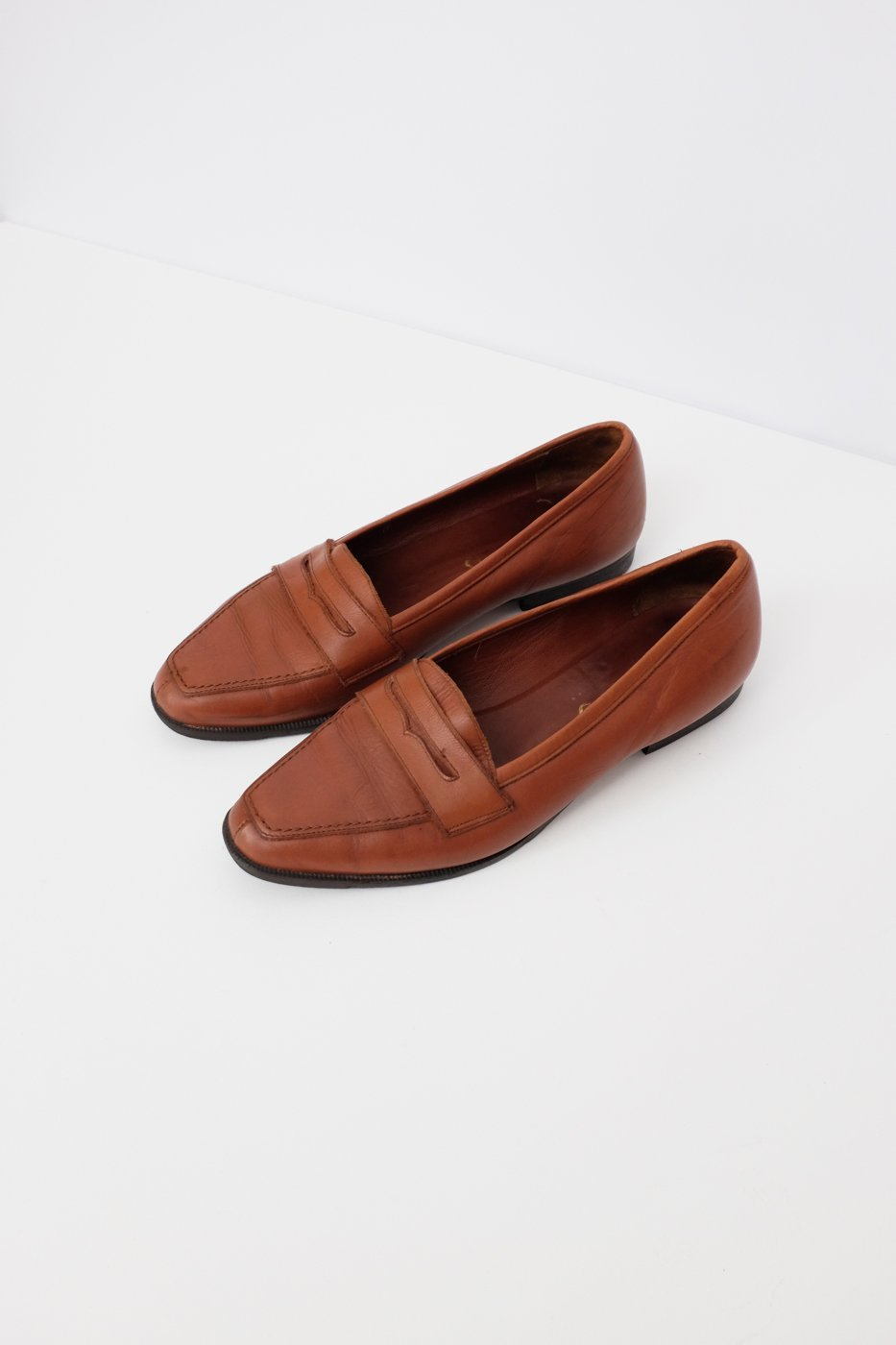 0001_COGNAC 38 LEATHER SLIPPER