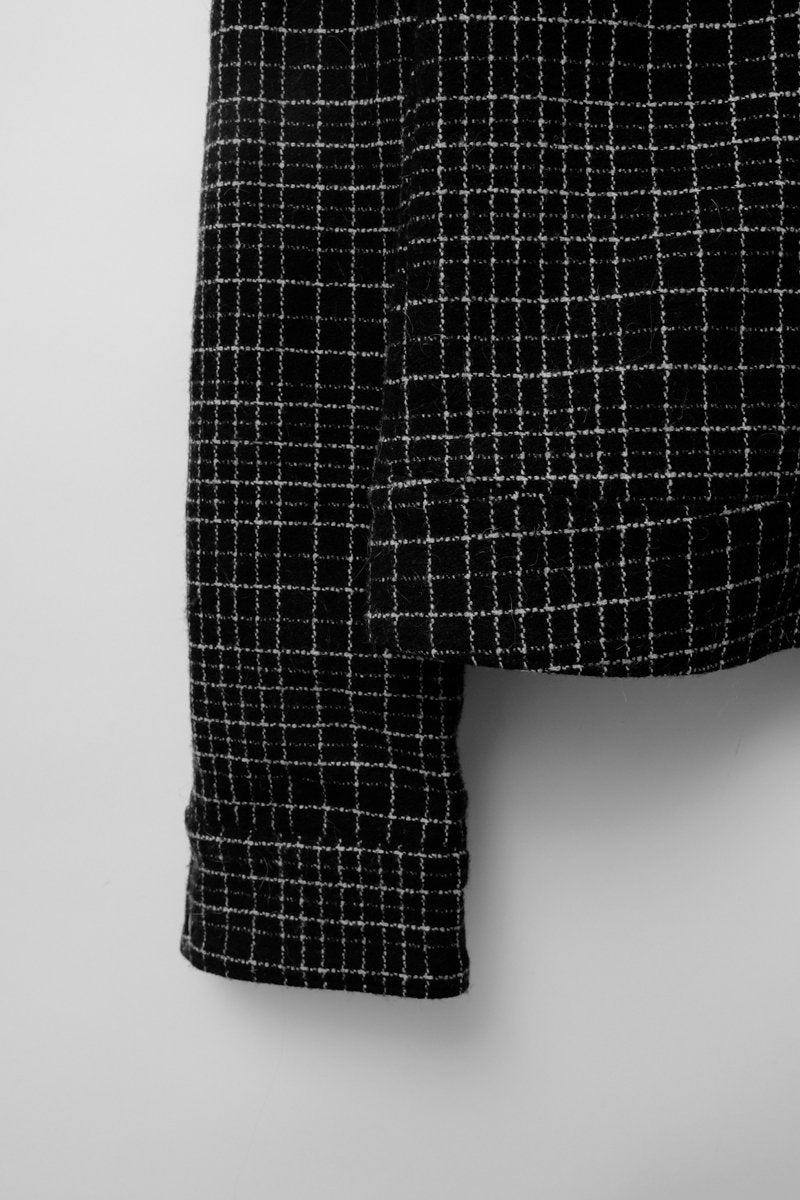 0165_STRENESSE CROP WOOL PLAID JACKET