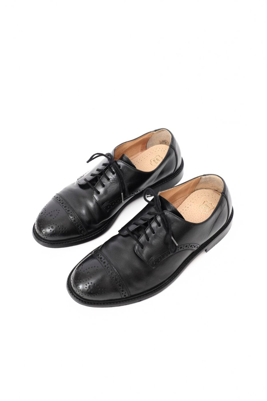 0402_BLACK 42 BUDAPESTER LEATHER BROGUES
