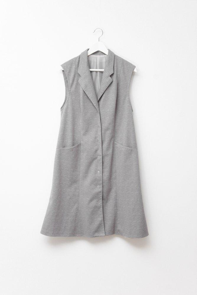 0710_VINTAGE BLAZER LONG WOOL VEST