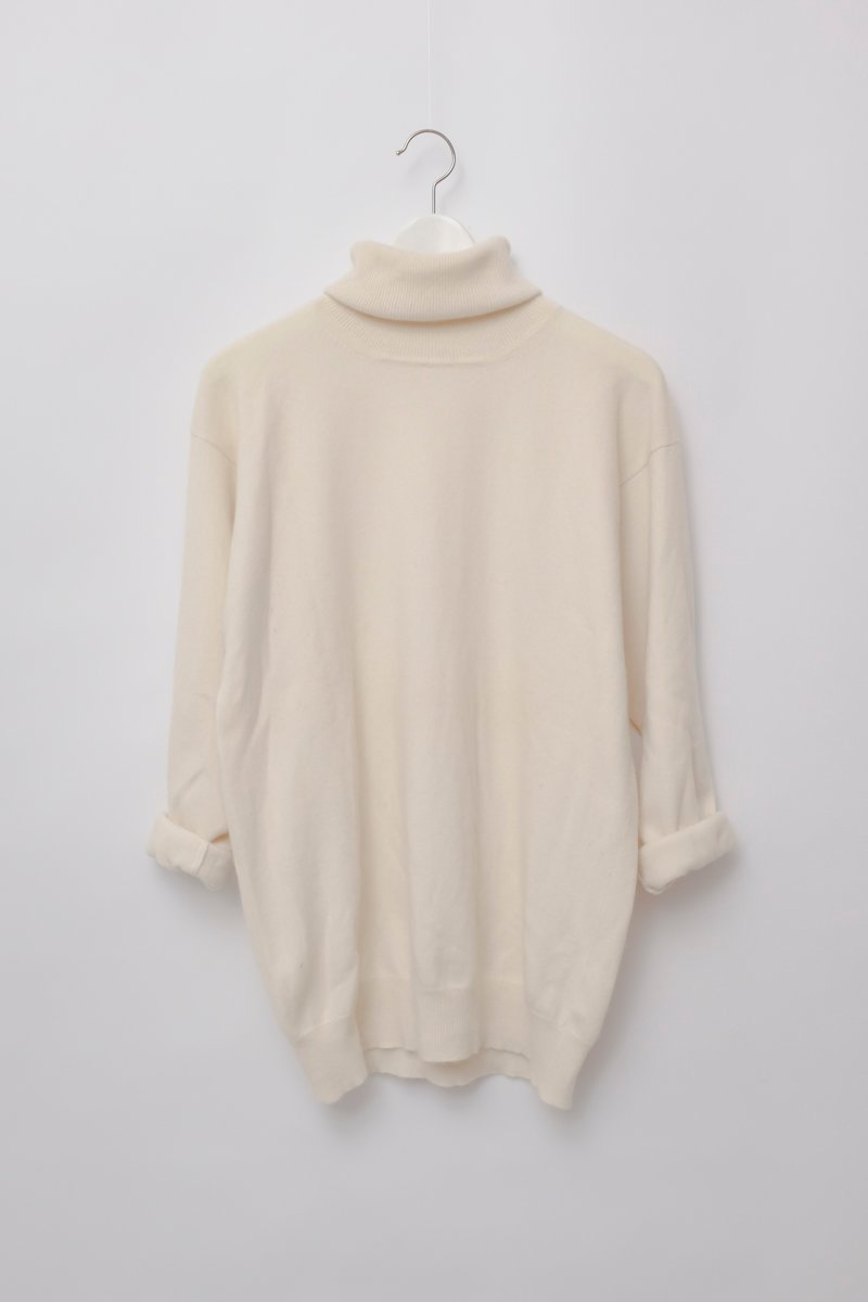 0183_IVORY CASHMERE TURTLENECK KNIT