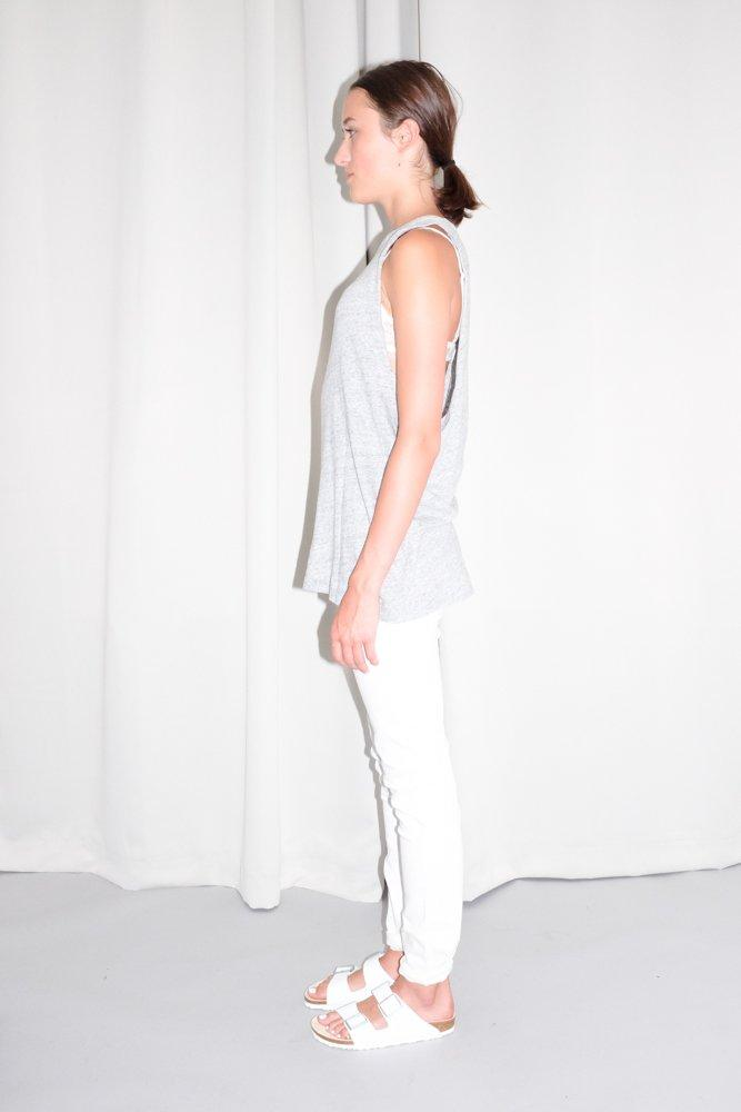 0742_ACNE LIGHT GREY LONG TANKTOP