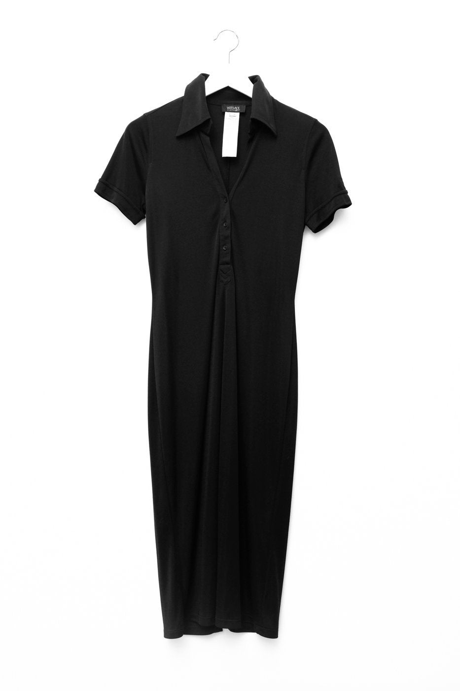 0487_VERSACE BLACK VINTAGE DRESS