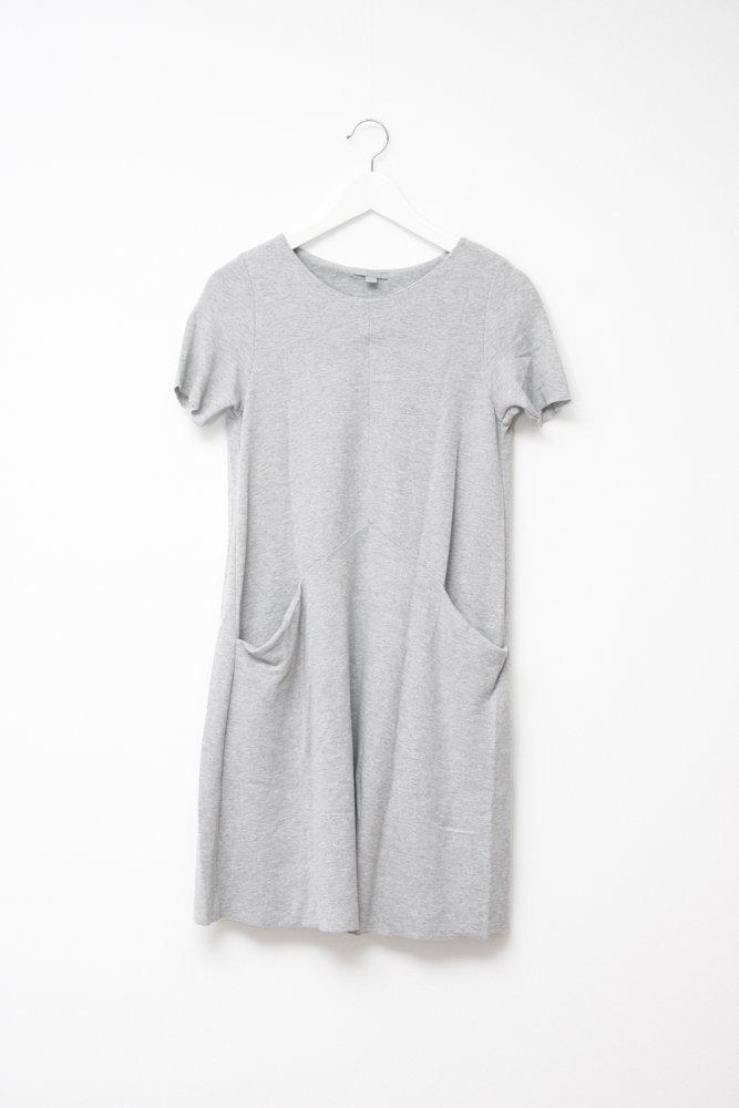 0750_COS LIGHT GREY JERSEY DRESS