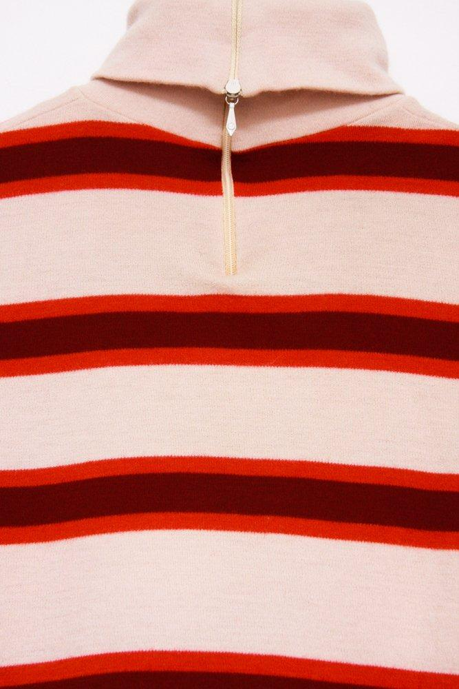 0596_STRIPES RETRO VINTAGE ROLL NECK JUMPER