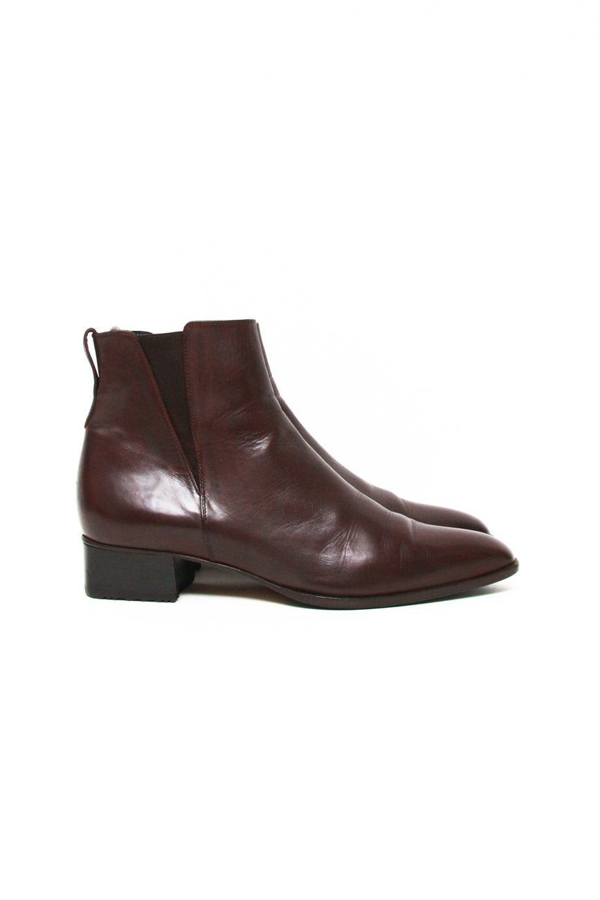 0657_LORENZO BANFI 39 BROWN LEATHER BOOTS