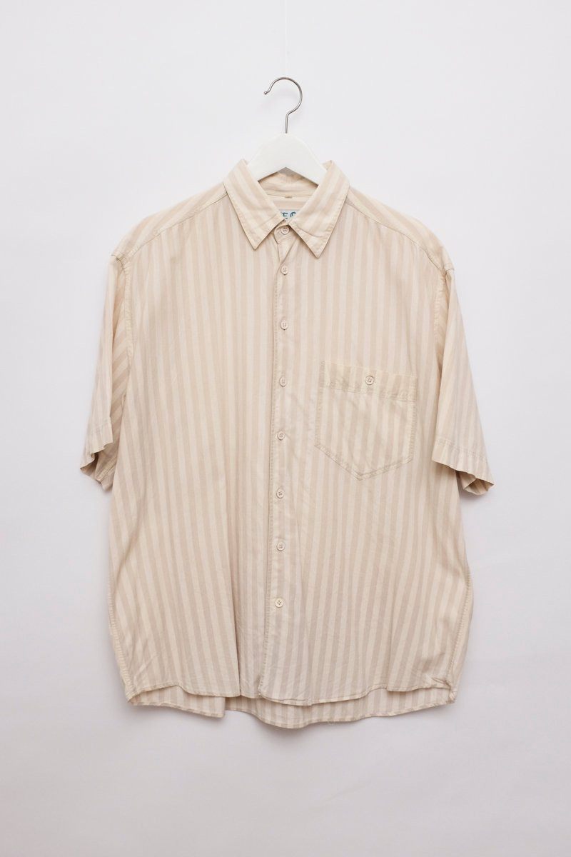 0233_CREAM PINSTRIPES COTTON BLOUSE