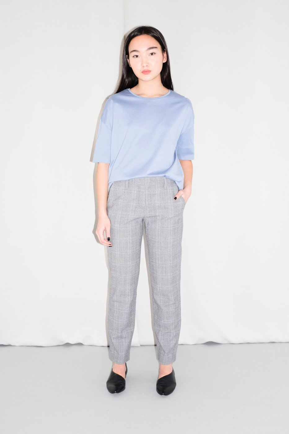 0350_RENÉ LEZARD CHECKED WOOL TROUSERS