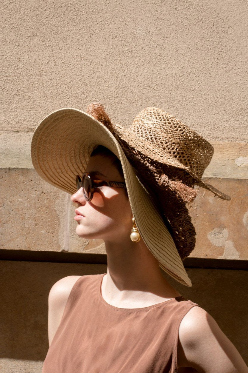 0190_VINTAGE ITALY STRAW HAT