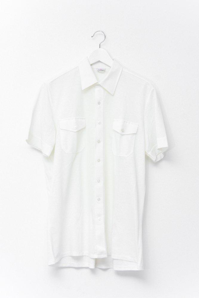 0719_VINTAGE OFF WHITE BUTTON UP POLO SHIRT