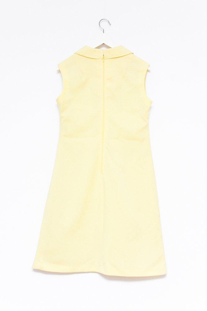 0583_YELLOW 60s A-LINE VINTAGE DRESS