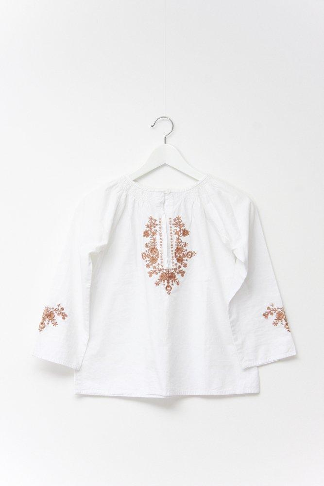 0713_VTG EMBROIDERY HIPPIE BOHEMIAN FLORAL BLOUSE
