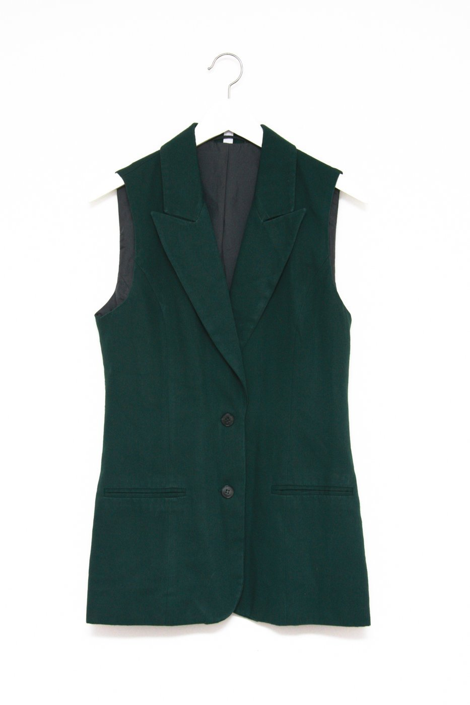 0380_FOREST GREEN BLAZER VEST