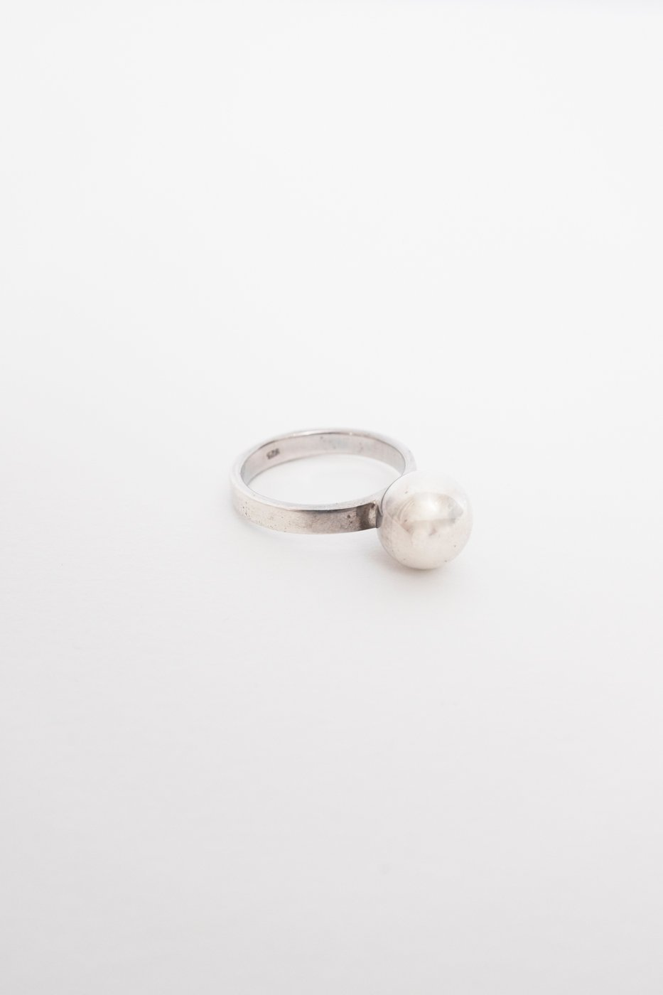 0427_BALL RING STERLING SILVER VINTAGE