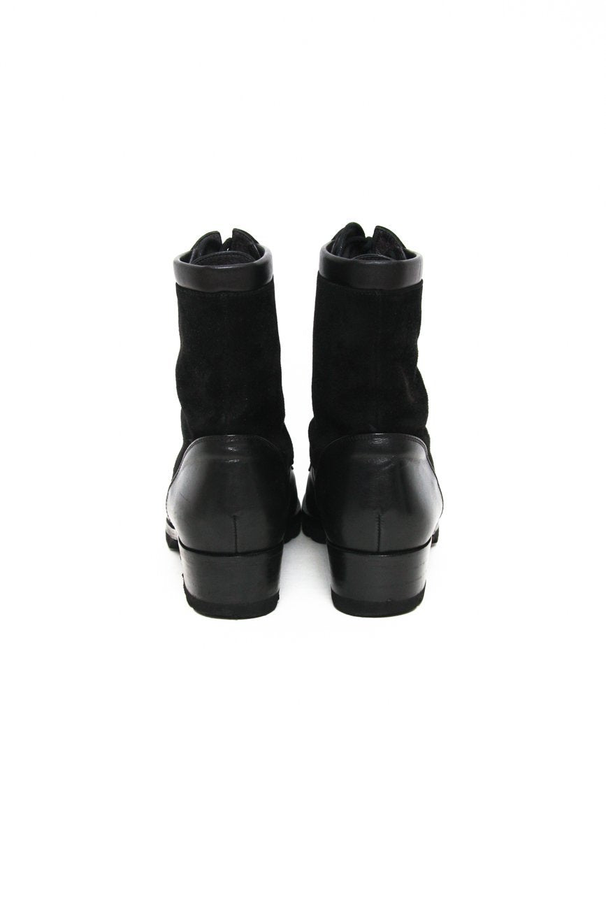 0638_VINTAGE 38 SUEDE LEATHER LACE UP BOOTIES