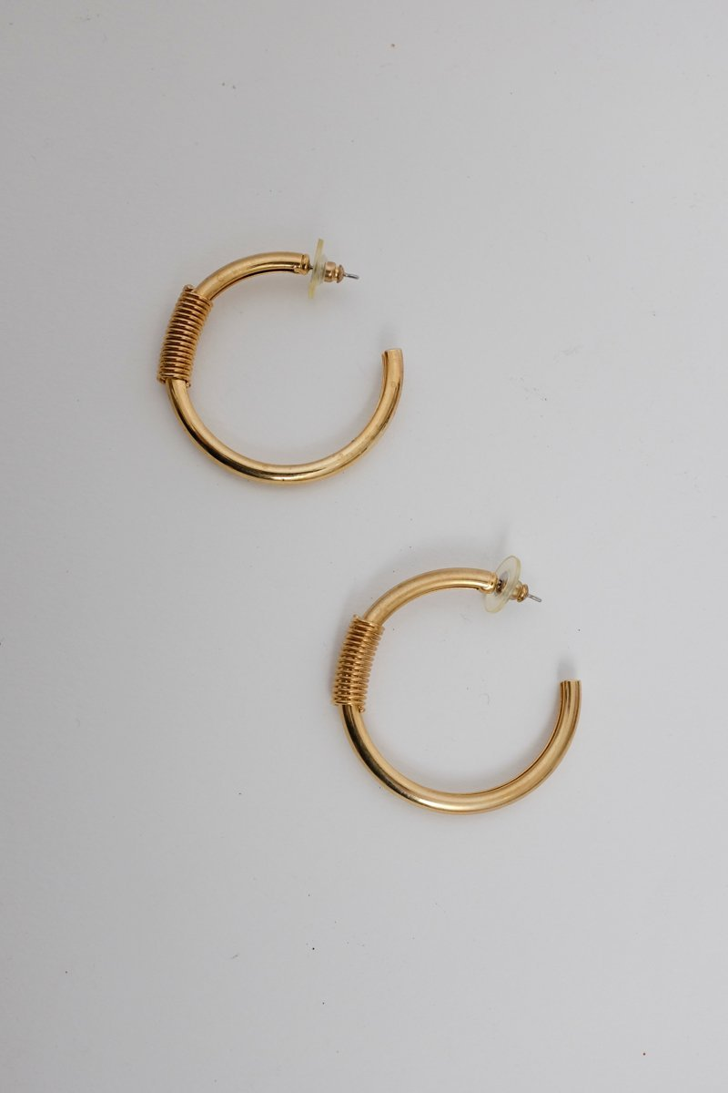 0142_XL VINTAGE BOLD GOLD HOOPS
