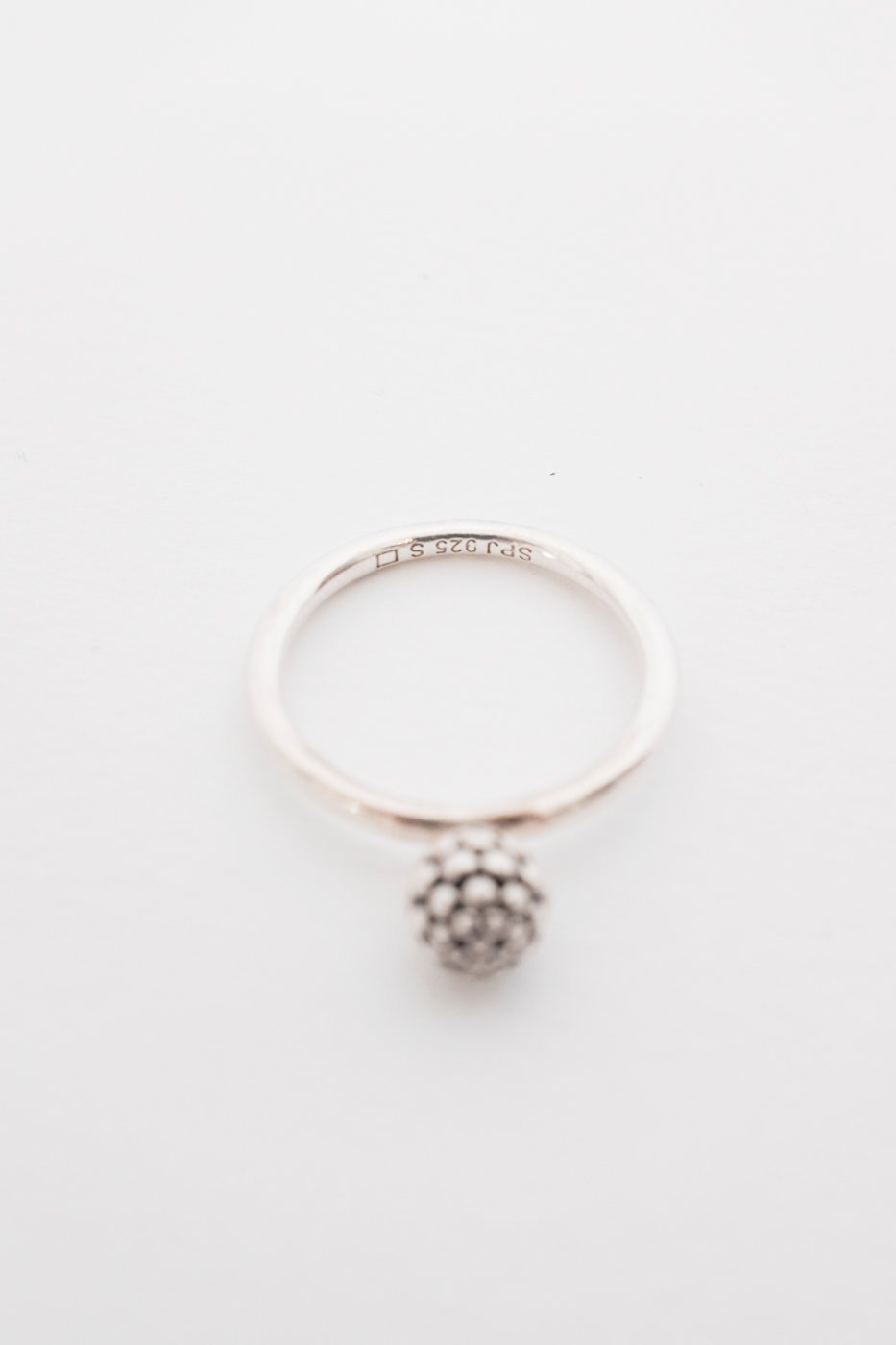 0445_BALL NATURE RING STERLING SILVER VINTAGE