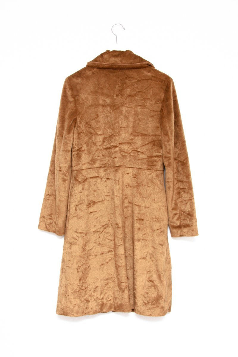 0575_MARGOT TENENBAUM STYLE TEDDY BEAR CAMEL COAT