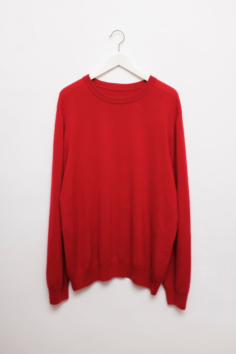0169_STRAWBERRY RED CASHMERE OVERSIZE KNIT