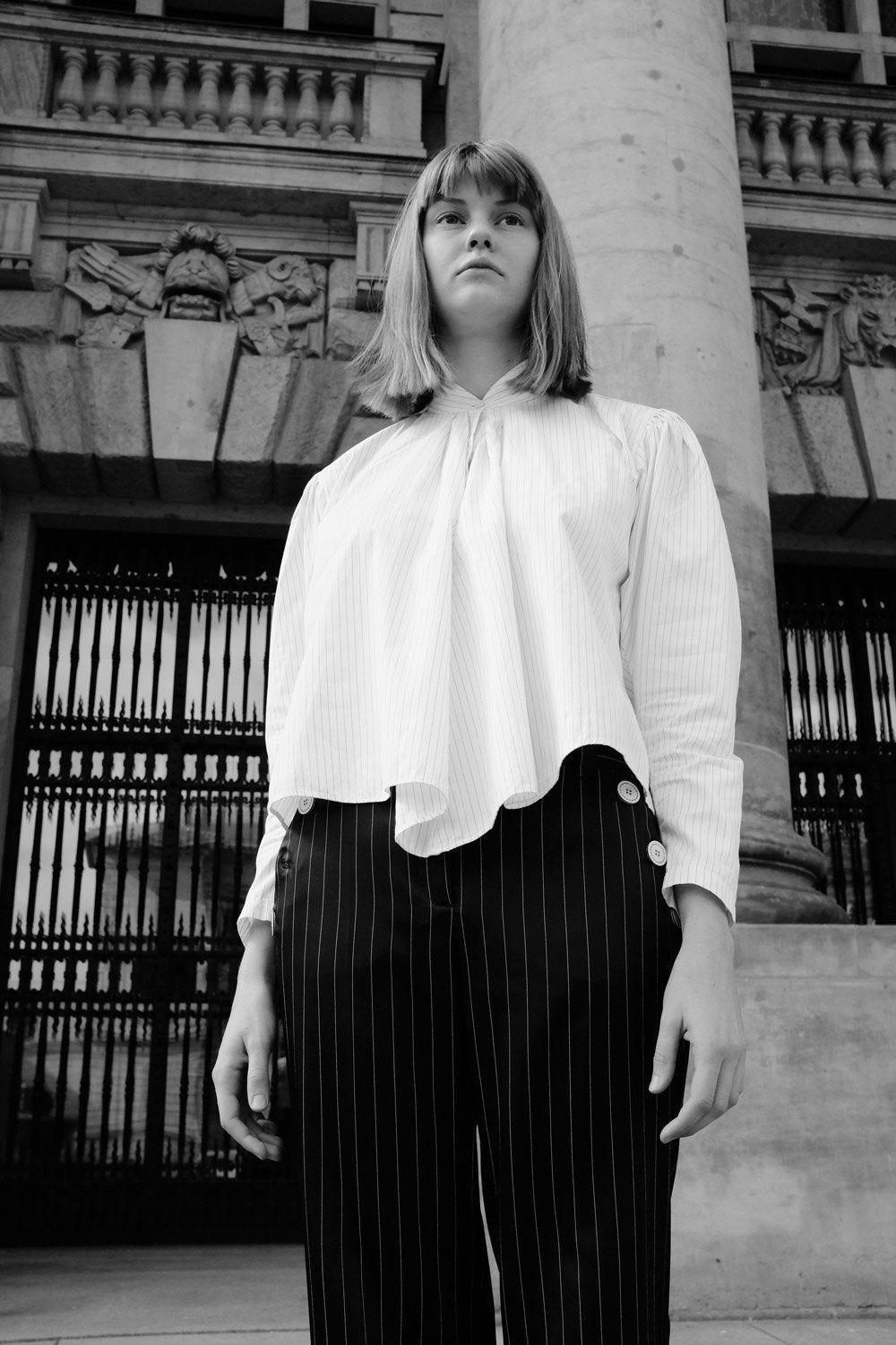 0500_SATIN PINSTRIPES TROUSERS