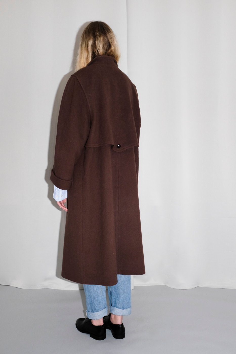 0333_BROWN VINTAGE WOOL COAT