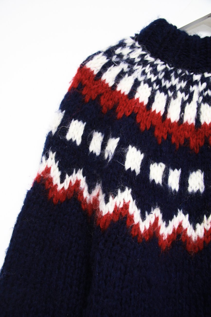 0633_VINTAGE NORWAY COSY LONG KNIT JUMPER