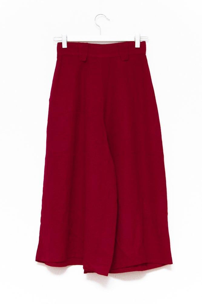 0599_CULOTTE RED HIGH WAIST VINTAGE PANTS