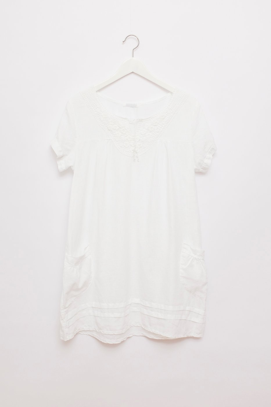 0437_SUMMER WHITE LINEN DRESS TUNICA