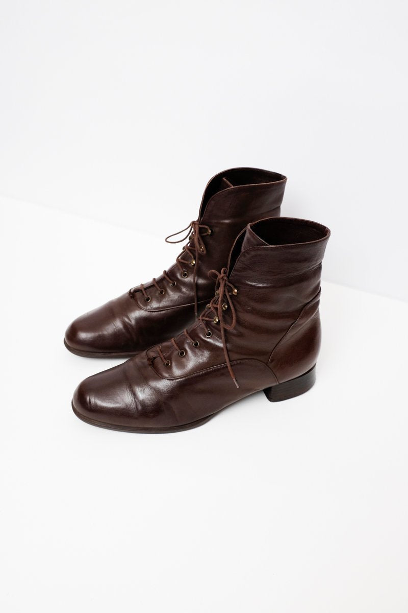 0174_WARM ITALY LACE UPS BROWN 40