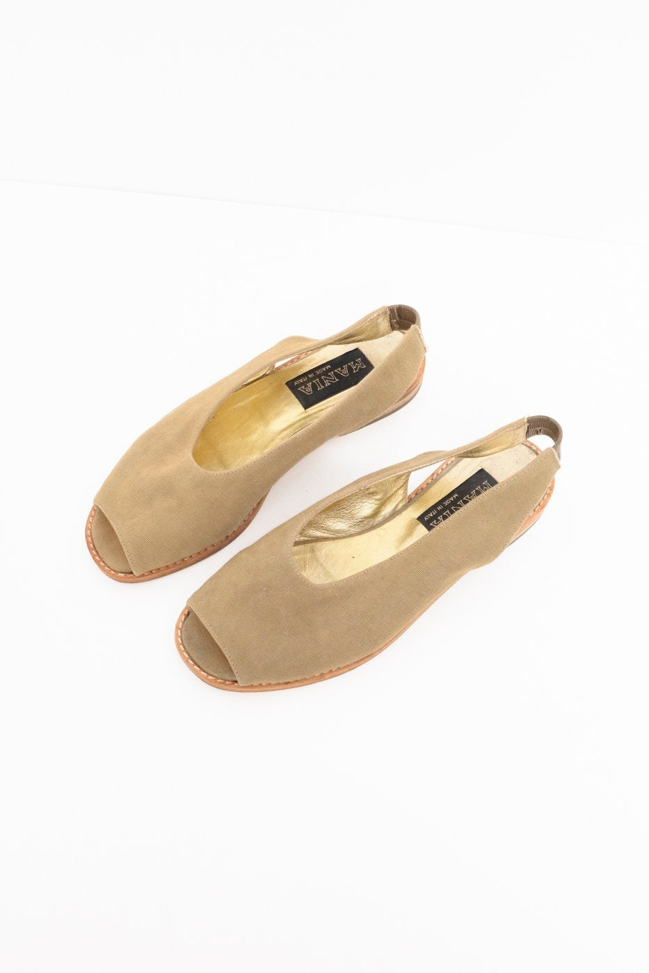 0429_NUDE LEATHER MULE SANDALS 36 SLIP ONS