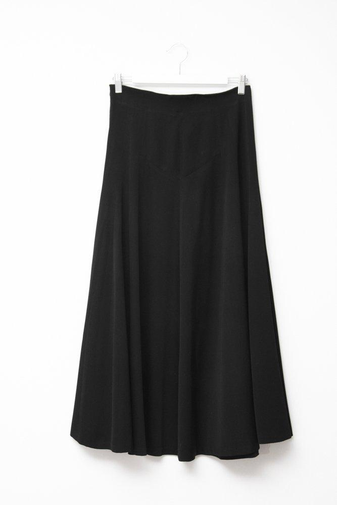 0486_JIL SANDER SILK BLACK VINTAGE SKIRT
