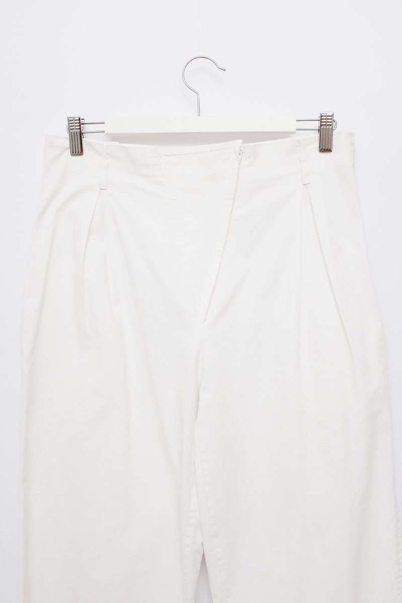 0230_WHITE PAPERBAG COTTON PANTS