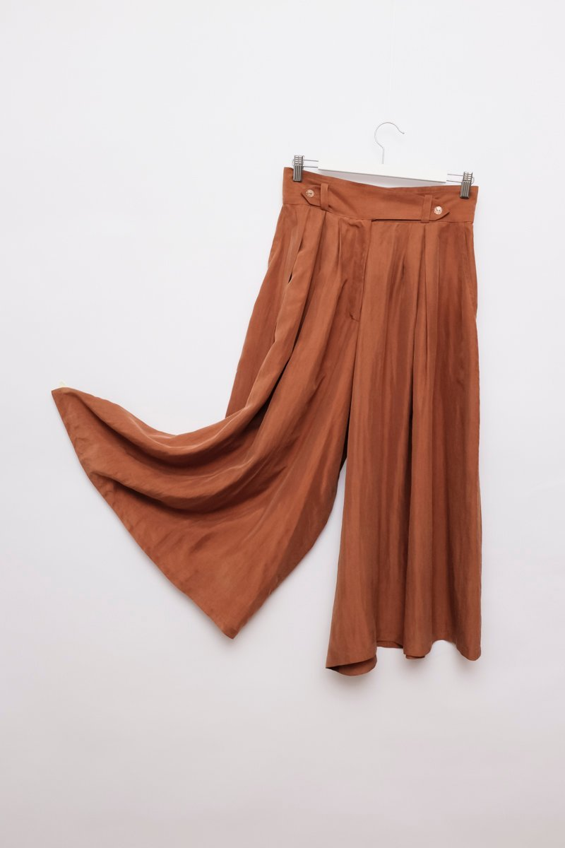 0199_SILK BROWN CULOTTE