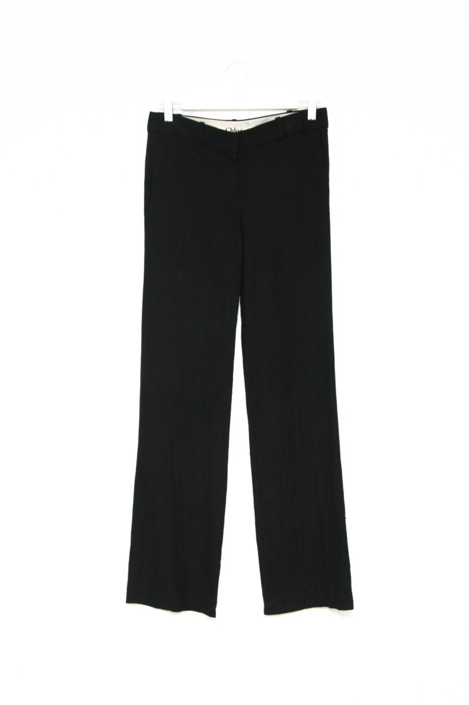 0471_CHLOÉ VISKOSE BLACK PANTS // 36